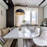 эргономичный кухонный гарнитур оформление