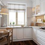 эргономичный кухонный гарнитур оформление фото