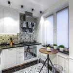 эргономичный кухонный гарнитур оформление идеи