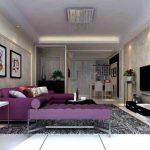 диван фиолетовый с кушеткой