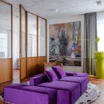 диван фиолетовый яркий
