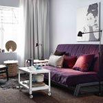 диван фиолетовый обычный