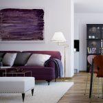 диван фиолетовый необычный