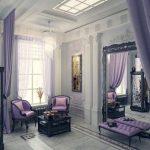 диван фиолетовый интерьер