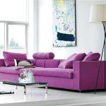 диван фиолетовый подушки