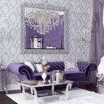 фиолет диван бархат