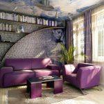 фиолет диван арт-деко