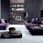 фиолет диван минимализм