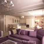 фиолет диван угловой
