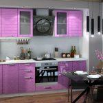 фиолетовый кухонный гарнитур светлый