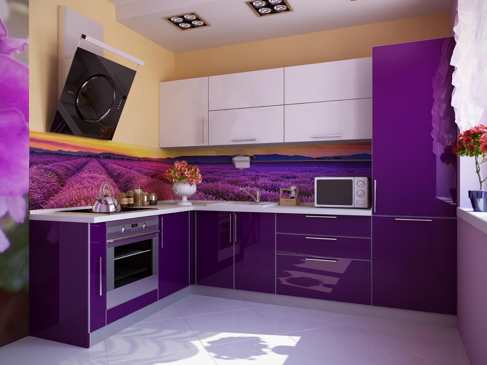кухня из пленки мдф черничного цвета фото отделочные материалы это