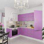 фиолетовый кухонный гарнитур лиловый