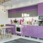 фиолетовый кухонный гарнитур сиреневый