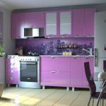 фиолетовый кухонный гарнитур лавандовый