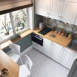 кухонный гарнитур вид сверху