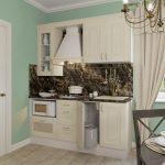 кухонный гарнитур со шторами