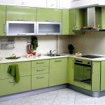 кухонный гарнитур зеленый болотный