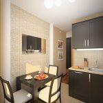 кухонный гарнитур коричневый