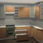 кухонный гарнитур светло-коричневый