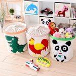 хранение детских игрушек в корзинах