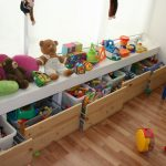 хранение детских игрушек в ящиках