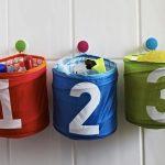 хранение детских игрушек в корзинках
