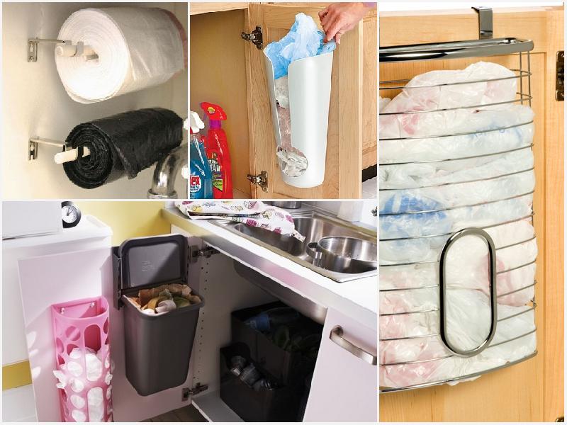 хранение пакетов на кухне лайфхаки