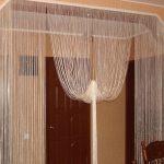 штора между комнат