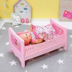 розовая кровать для пупса