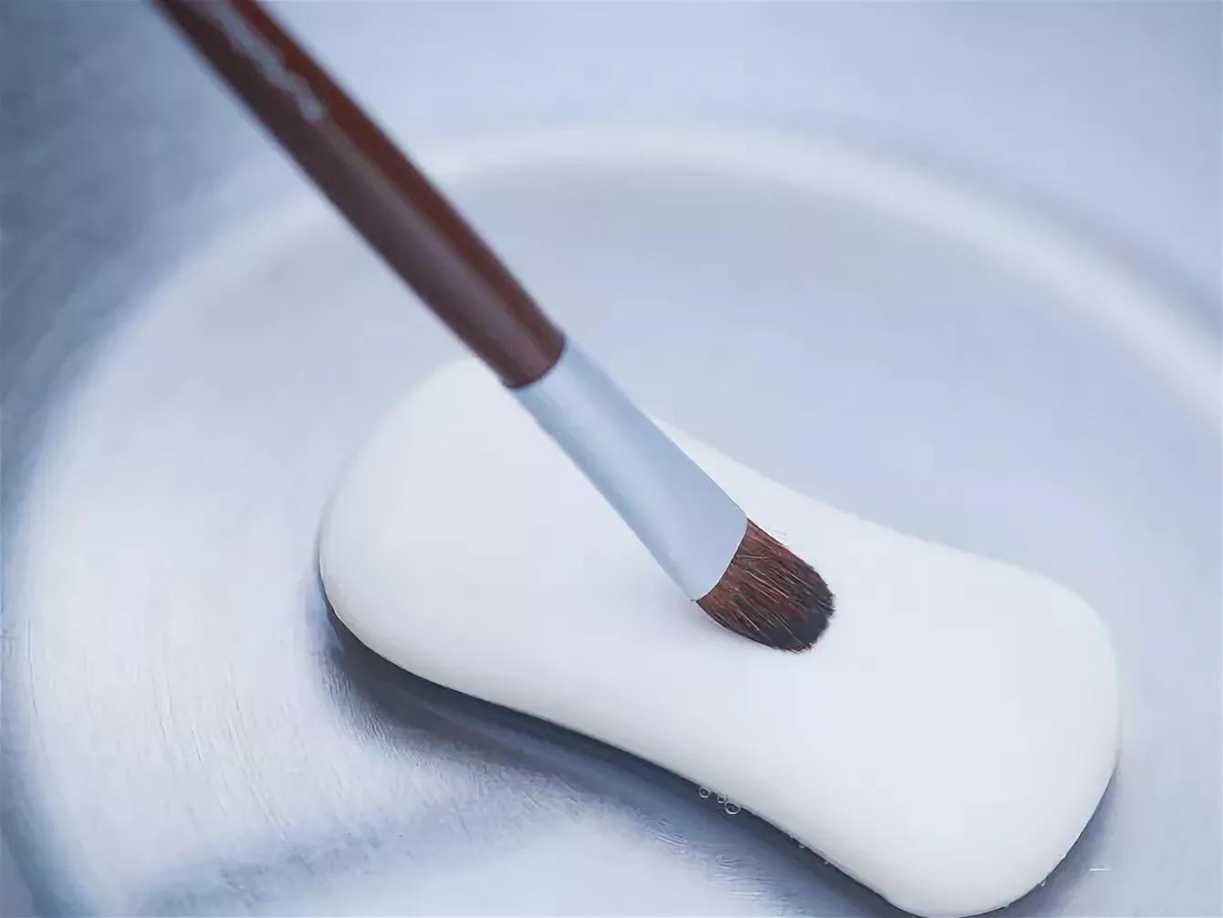 очистка кистей мылом