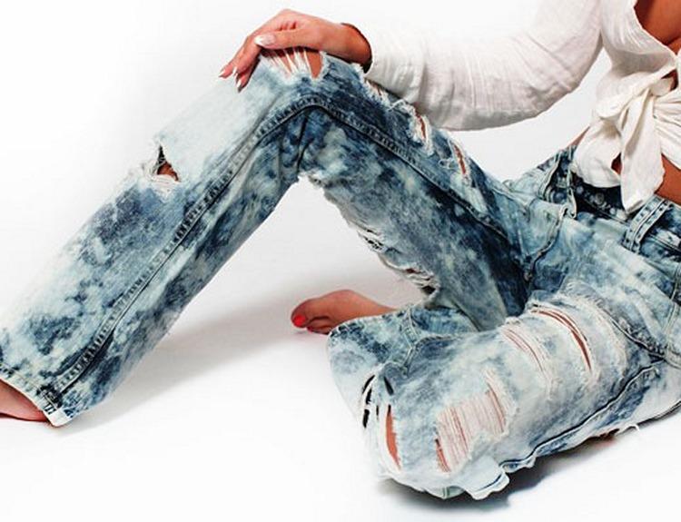 эффект рванины на джинсах