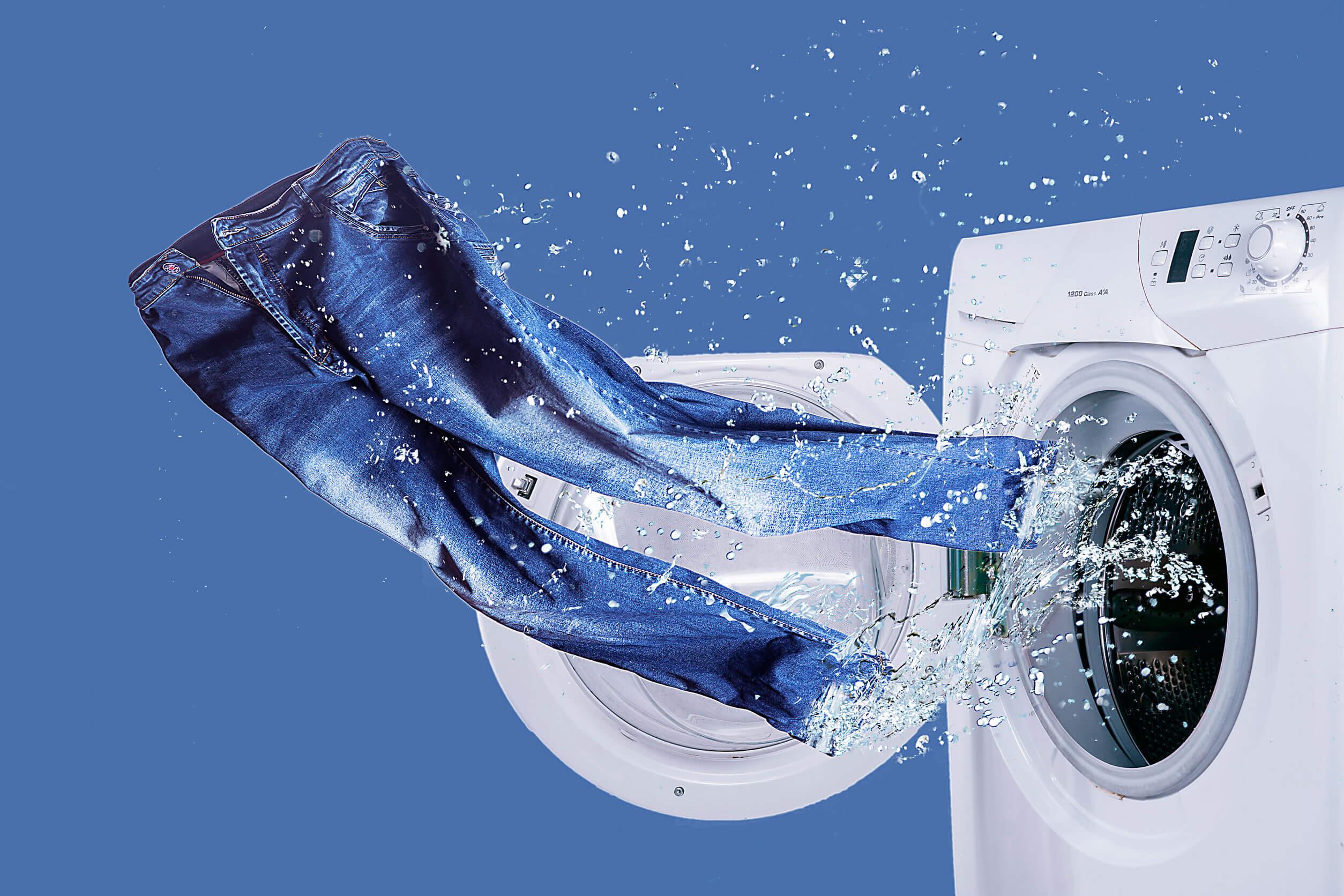 выбелить джинсы в стиральной машине
