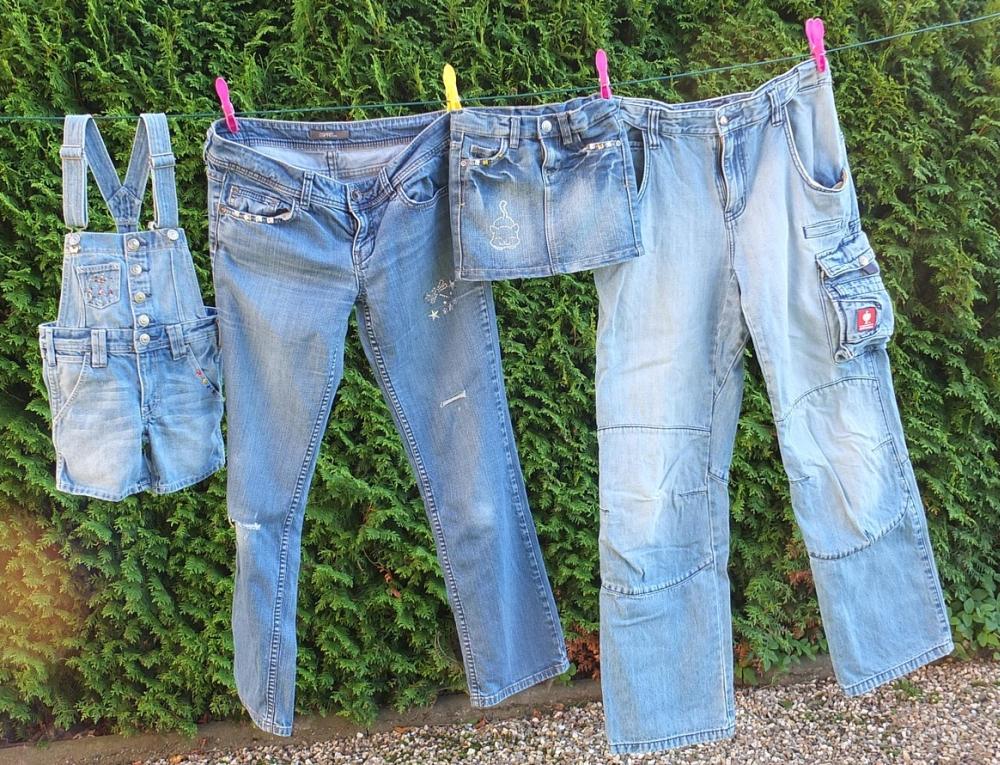 процесс отбеливания джинсовой ткани