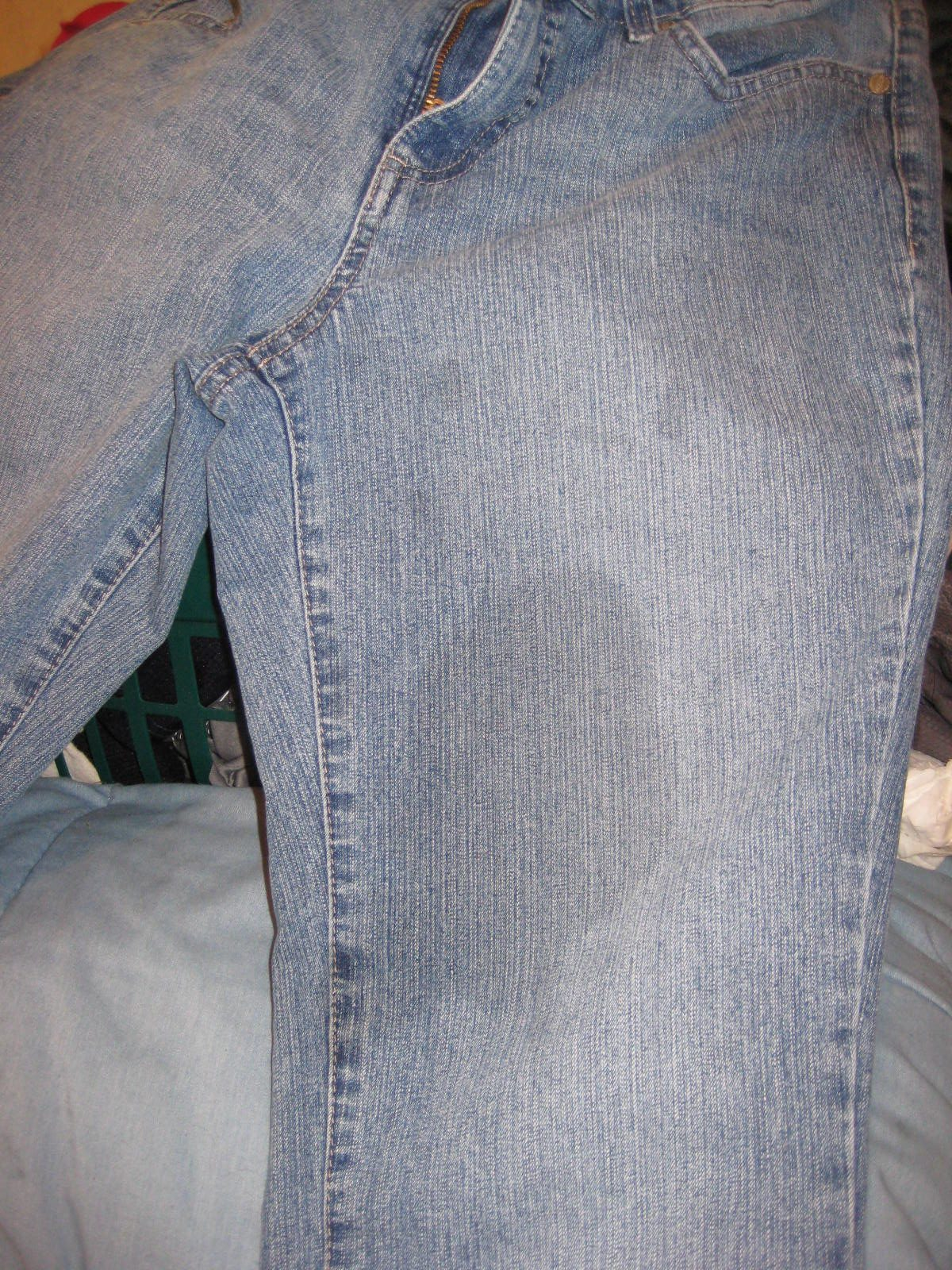 жирное пятно на джинсах