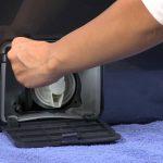 извлечение фильтра из стиральной машины