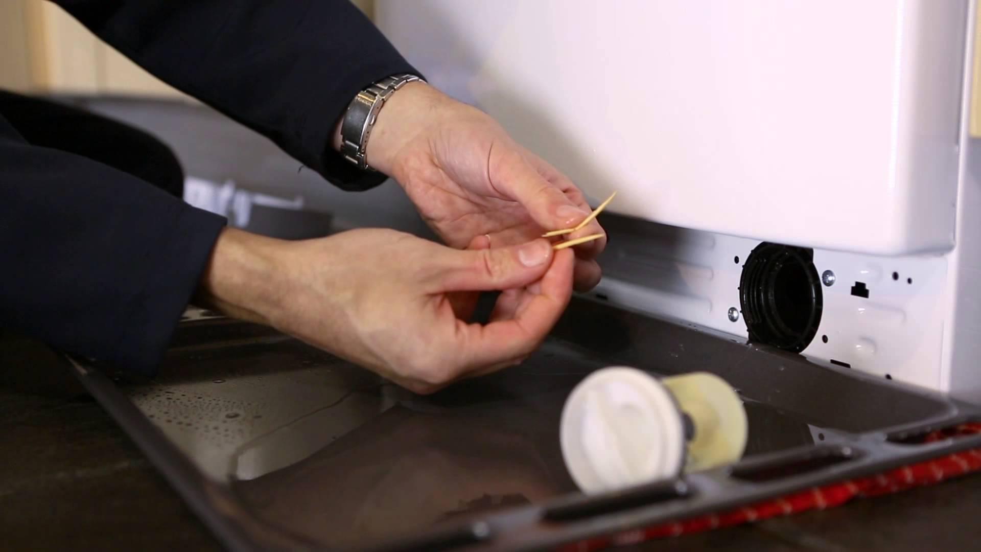 чистка фильтра в стиралке
