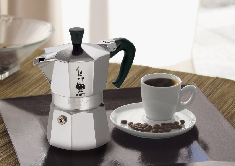 гейзерная кофеварка металлик