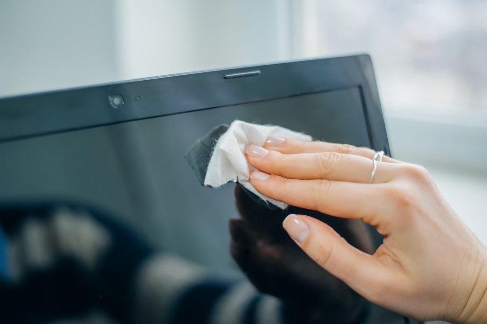 как протереть ноутбук
