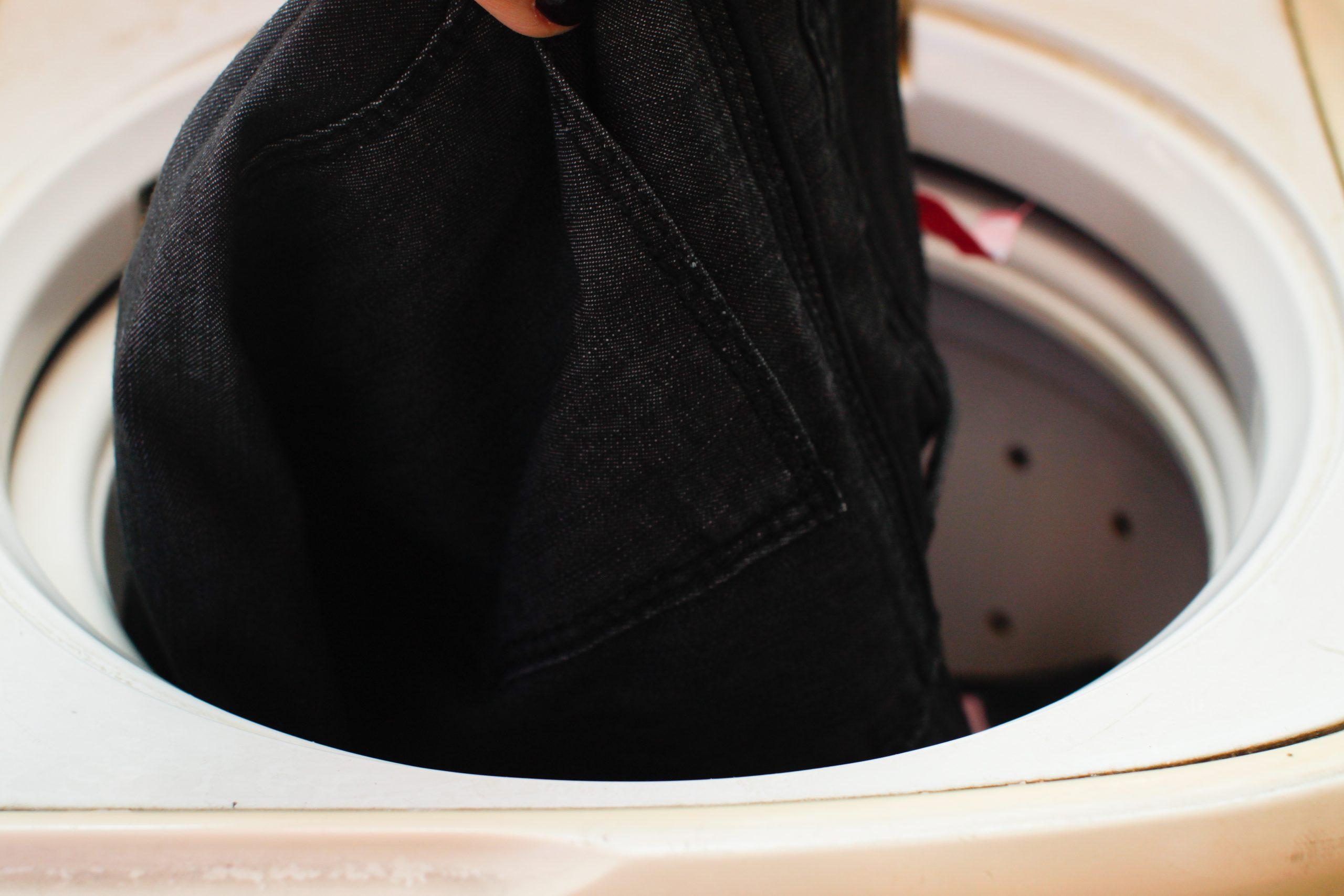 пиджак в стиральной машине