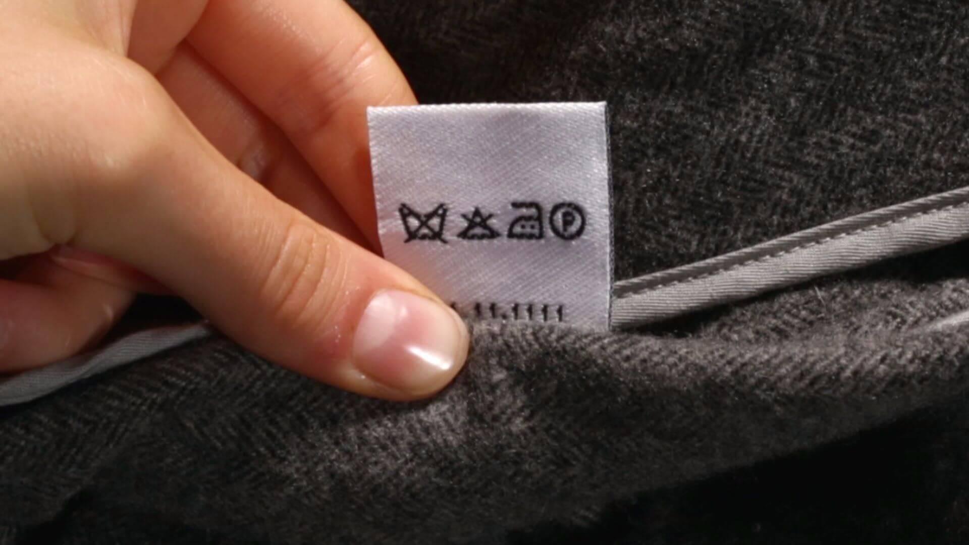 рекомендации на бирке пиджака