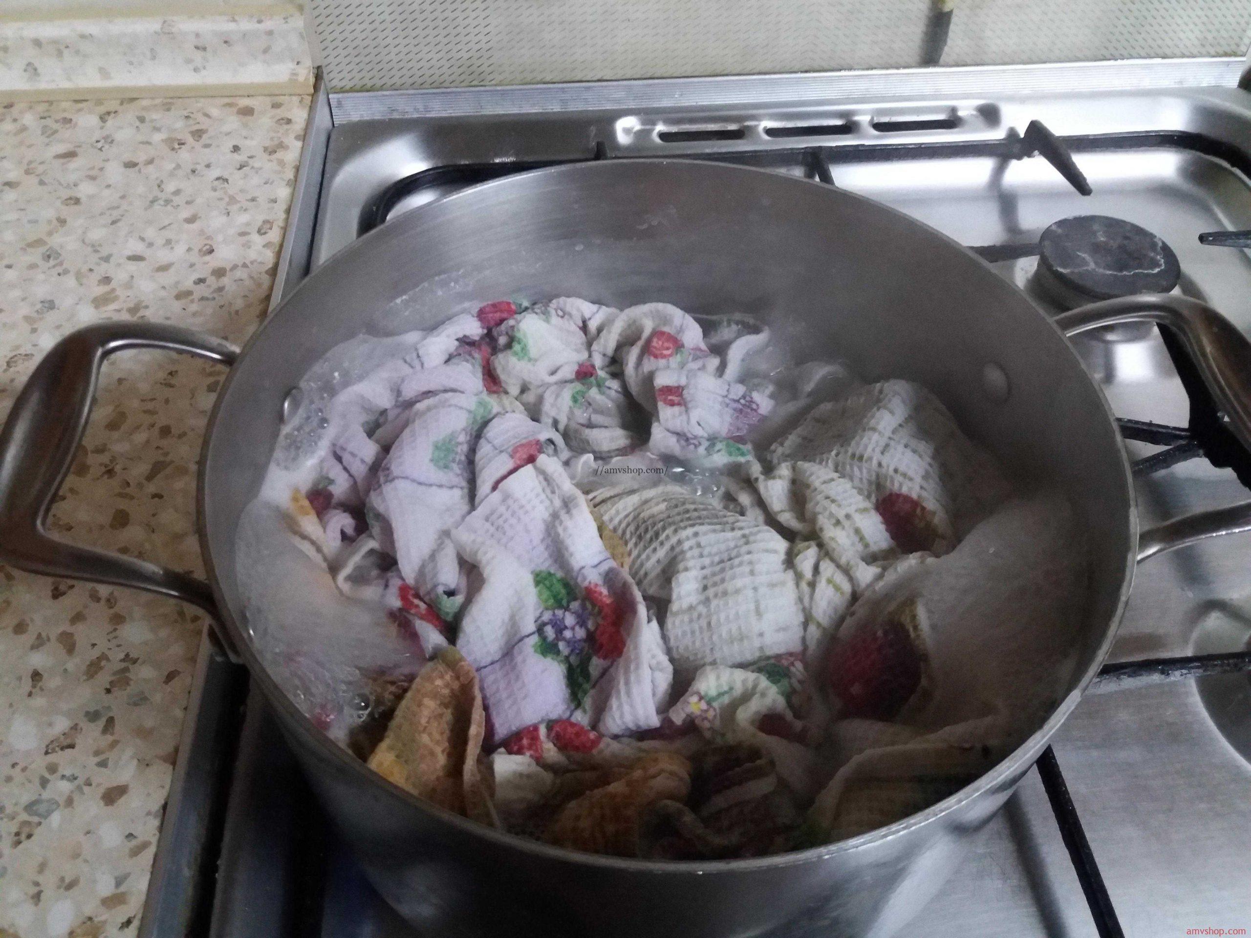 кипечение полотенец