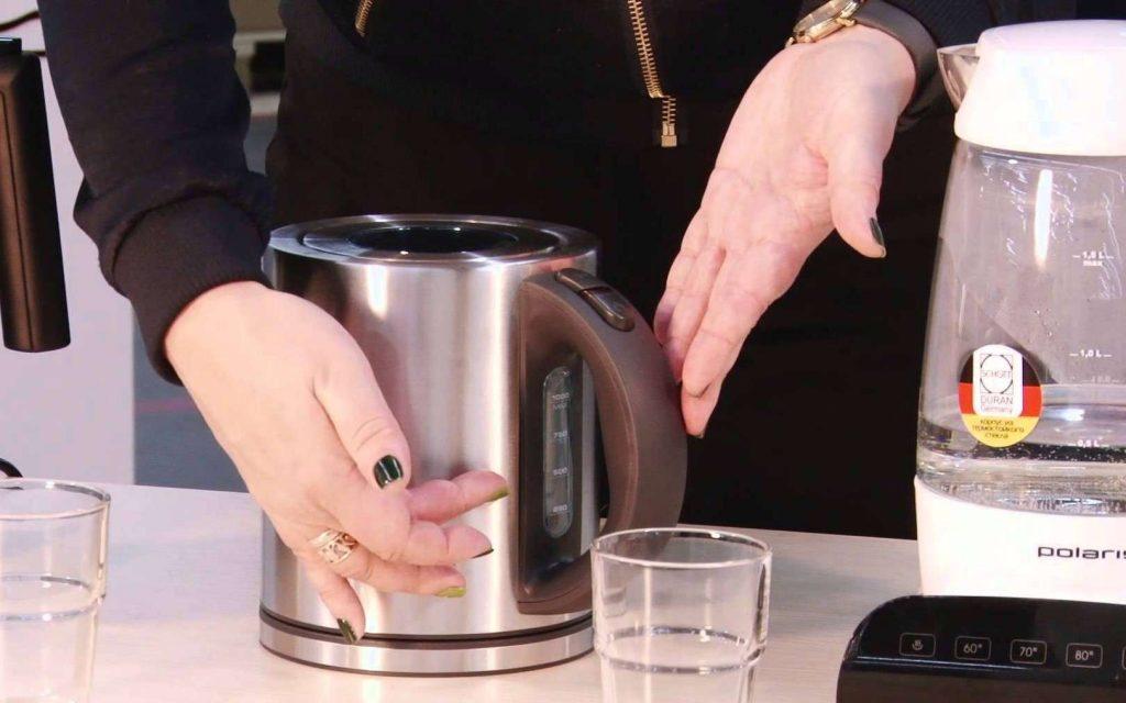 как удалить накипь в электрическом чайнике
