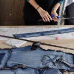 распарывание джинсов