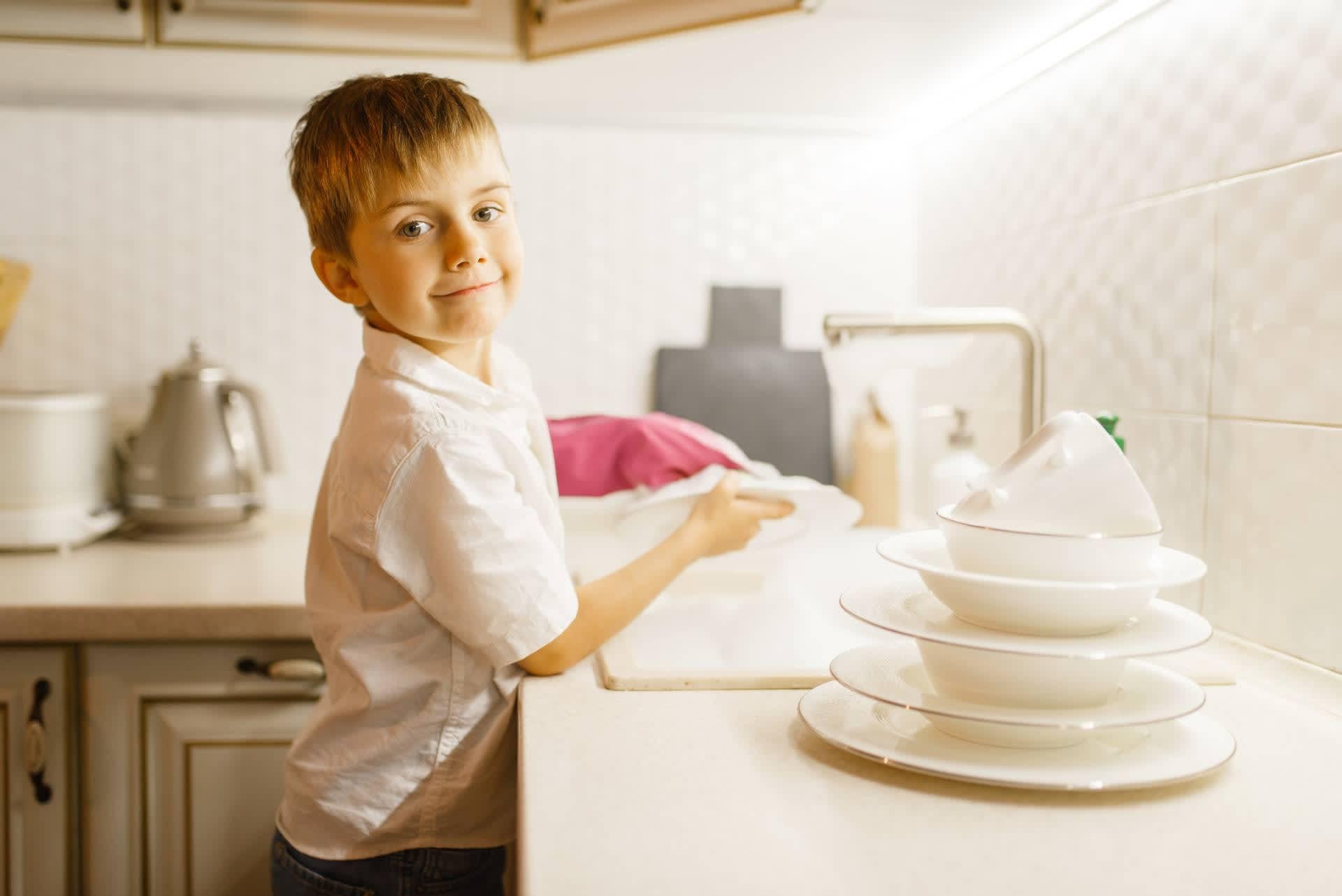уборке в кухне