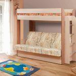 деревянная кровать с диваном