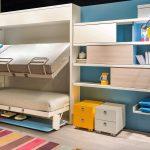 складывающаяся кровать для двух детей