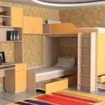 комплекс кровать-шкафы-рабочее место