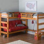 простой вариант двухъярусной кровати с диваном