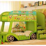 кровать - оливковый автобус