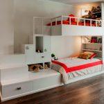 кровать-корабль со шкафами